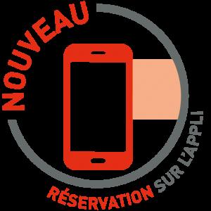 Réservation avec l'App